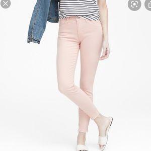 BANANA REPUBLIC Pink Frayed Hem Denim Jeans